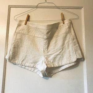 J. Crew High-rise White Shorts Size 10